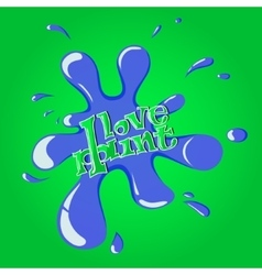 Blue Splash on green background eps10 vector image
