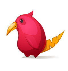 cartoon funny cute bird with a large beak vector image
