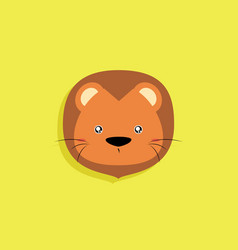 Cartoon lion face vector