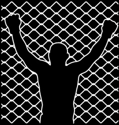 champion silhouette vector image