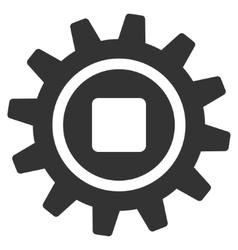 Cog Flat Icon vector image vector image