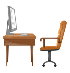 Computer on the table vector