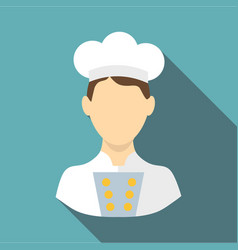 cook icon flat style vector image vector image