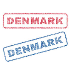 Denmark textile stamps vector