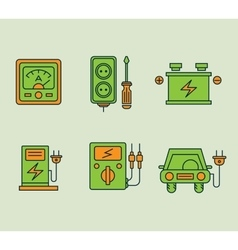 Ecological Icons Set vector image
