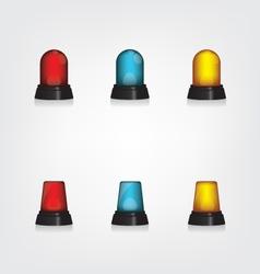 Emergency lights set vector image
