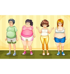 Fat people vector image