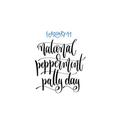 February 11 - national peppermint patty day - hand vector