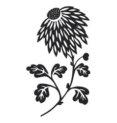 Flower silhouetted vector