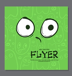 Flyers with Funny faces cartoon-style on vector image