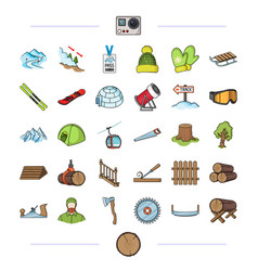 Forest nature business and other web icon in vector