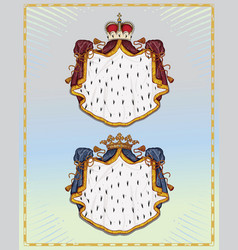 Heraldic mantling vector