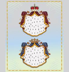 heraldic mantling vector image vector image