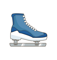 ice roller skate sport equipment image vector image