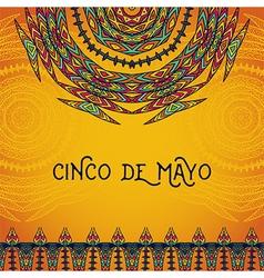 invitation for cinco de mayo festival vector image vector image