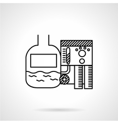 Line icon for sewage treatment vector