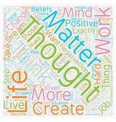 Mind Over Matter The Power Of Thoughts text vector image vector image