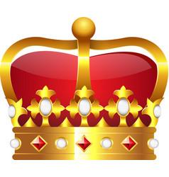 Realistic golden crown vector image
