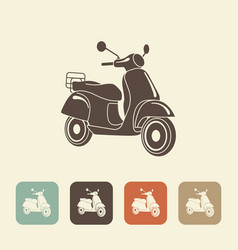 retro scooter isolated italian style vector image