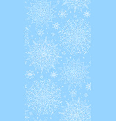 seamless texture with tracery winter snowflakes vector image vector image