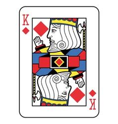 Stylized king of diamonds vector