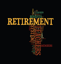 Teachers retirement text background word cloud vector