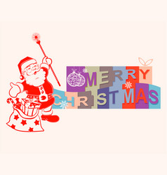 Text merry christmas vector