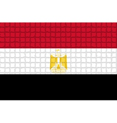 The mosaic flag of Egypt vector image vector image