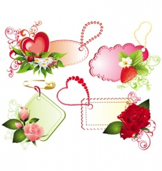 valentines banners vector image vector image