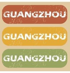 Vintage guangzhou stamp set vector