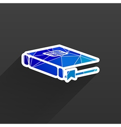 web button Flat design with shadow vector image