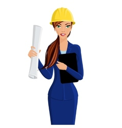 Woman engineer portrait vector