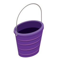 Sand bucket isolated icon design vector
