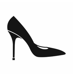 Women shoe with high heels icon simple style vector image