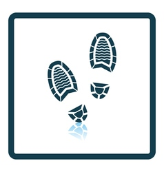 Man footprint icon vector