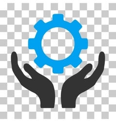 Gear maintenance hands icon vector