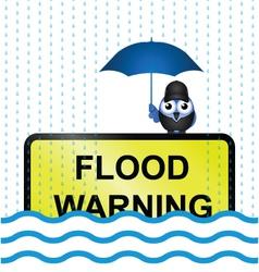 FLOOD WARNING vector image