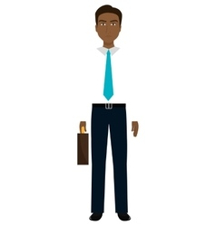 Young elegant businessman avatar over white vector