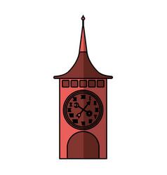 Clock of tower switzerland vector