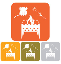 Brazier zephyr and chicken icon vector
