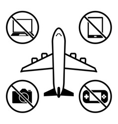 Items not allowed to carry in luggage for vector