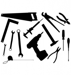 Set of working tools vector