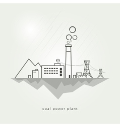 Coal power stations vector