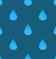 Blue water drops seamless pattern vector