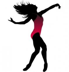 Dance girl ballet silhouettes  vector
