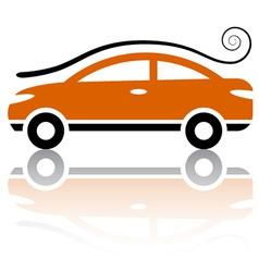 Car with air vortex icon vector