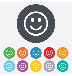 Smile sign icon happy face symbol vector