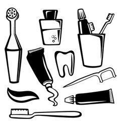 body care objects vector image