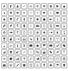 100 universal icons set vector