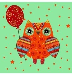 Ethnic cute owl birthday vector